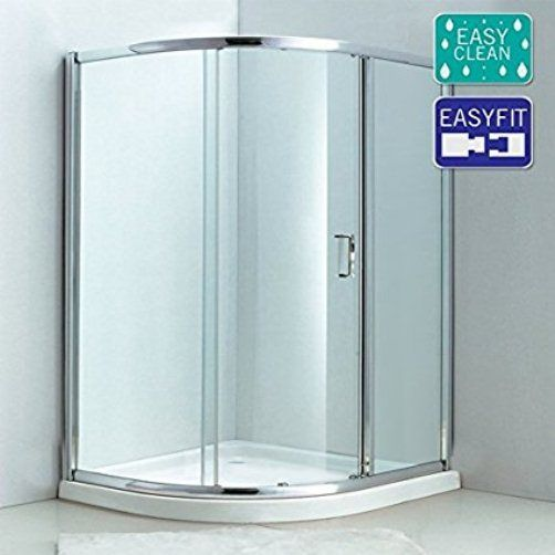 Matrix 1000 x 1000 Single Door Quadrant Enclosure 6mm Easy Fit Easy Clean Glass - Leeds Clearance Bathrooms
