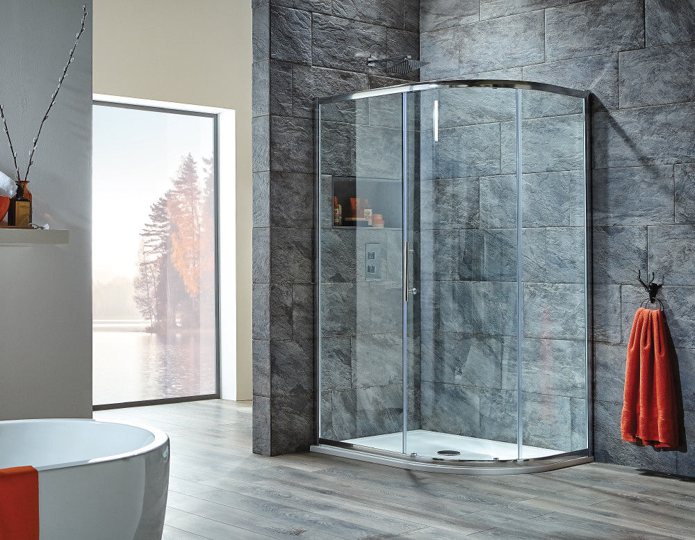 Single Door Offset Quadrant Enclosure 6mm Easy Clean Glass 1200 x 800mm - Leeds Clearance Bathrooms