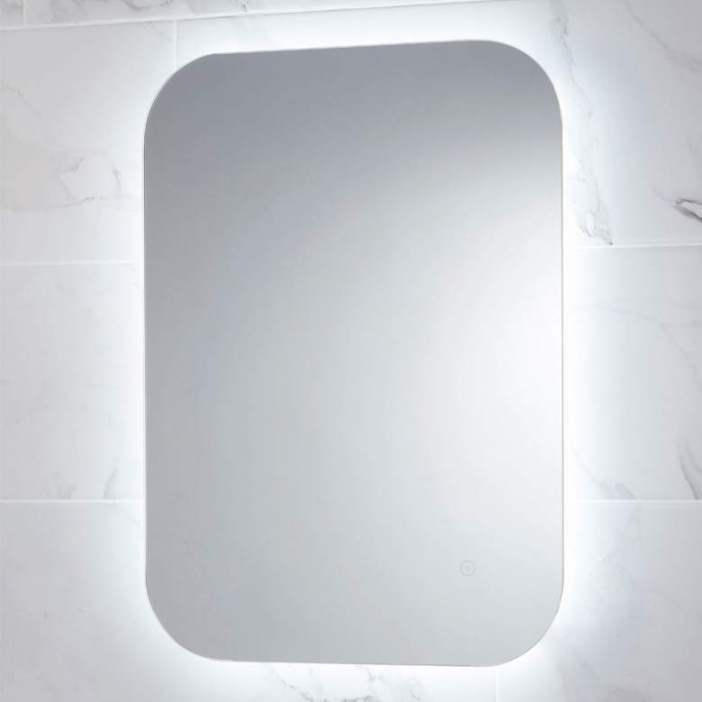 Aura LED Mirror 700 x 500mm with Shaving Socket and Demister Colour Changing - Leeds Clearance Bathrooms