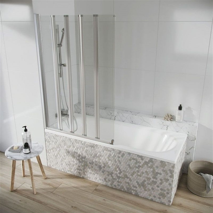 Acqua Arm 5 Panel Bath Screen