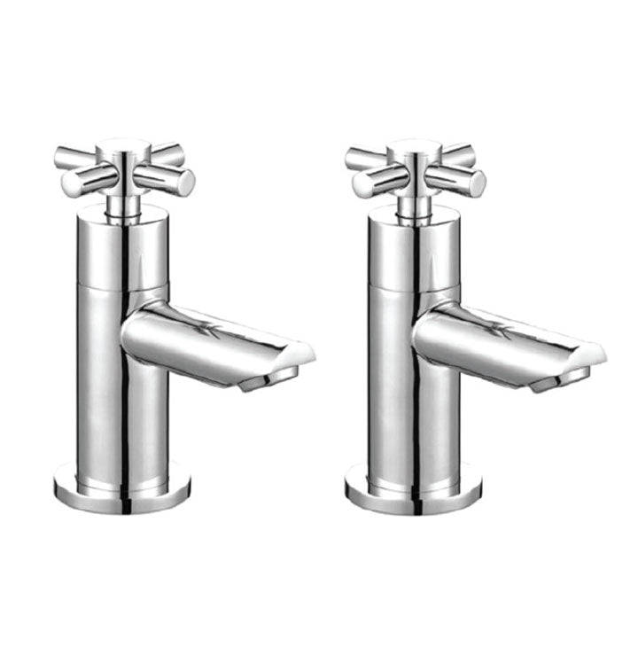 Kross Pair Of Basin Taps Chrome