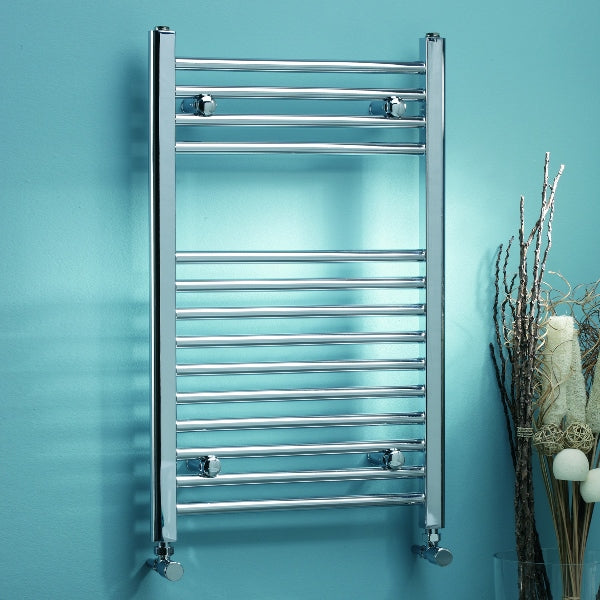Chrome Towel Rail 500x1000, Straight or Curved - Leeds Clearance Bathrooms