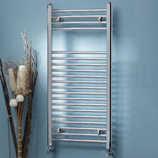 Chrome Towel Rail 400x1200, Straight or Curved - Leeds Clearance Bathrooms