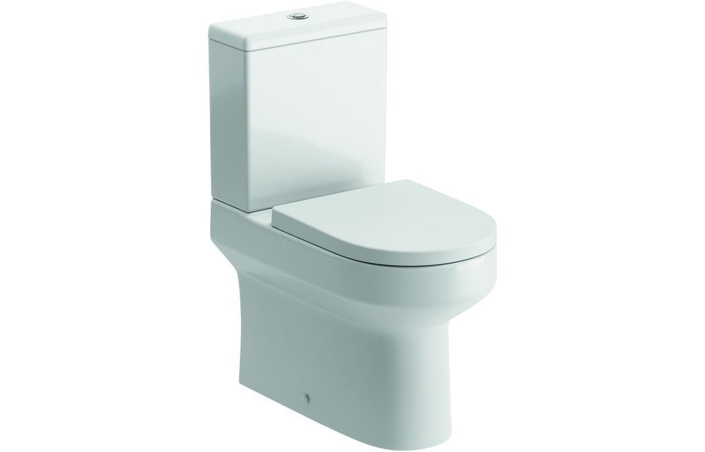 Laurus Flush To Wall Close Coupled Toilet with Soft Close Seat