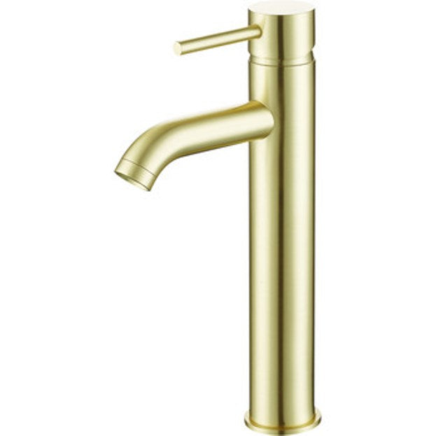 Pesca Tall Mono Basin Mixer Brushed Brass