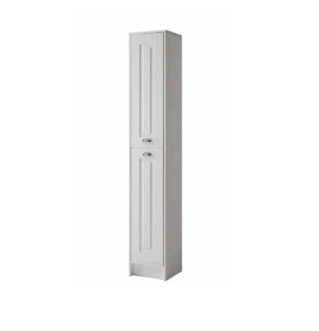 Astley 300mm Tall Storage Unit - Matt White