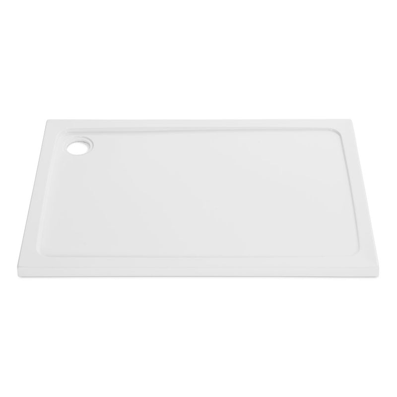 Stone Resin 45mm Low Profile Rectangle Shower Trays & Fast Flow Waste