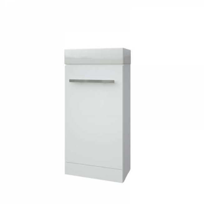 FUR280PU-RWFCUBEBAS Kartell K-Vit Purity Floor Standing Cloakroom Unit with Ceramic Basin - White