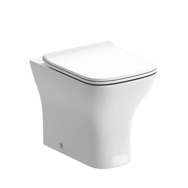 Cedarwood Square BTW Toilet with Slimline Soft Close Seat