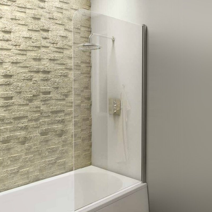 Radius Edge Straight Bath Screen - Leeds Clearance Bathrooms