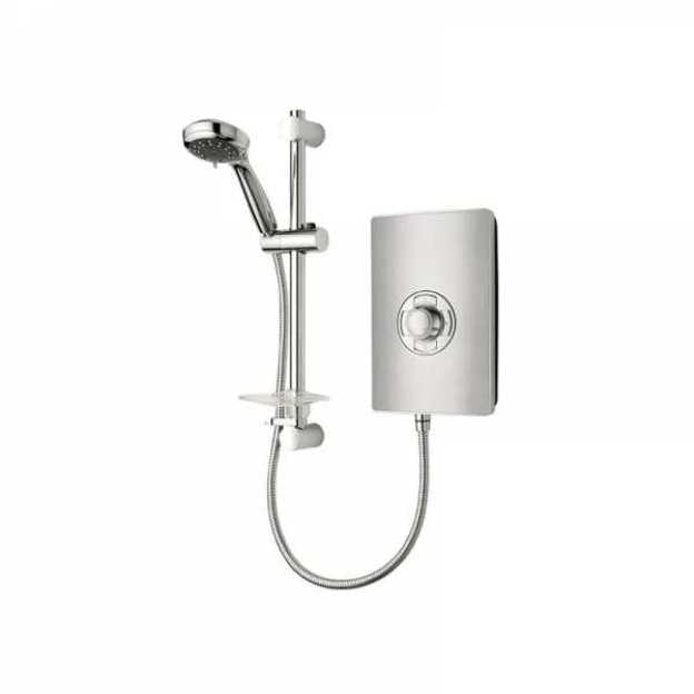 Triton Aspirante 9.5kW Electric Shower Brushed Steel