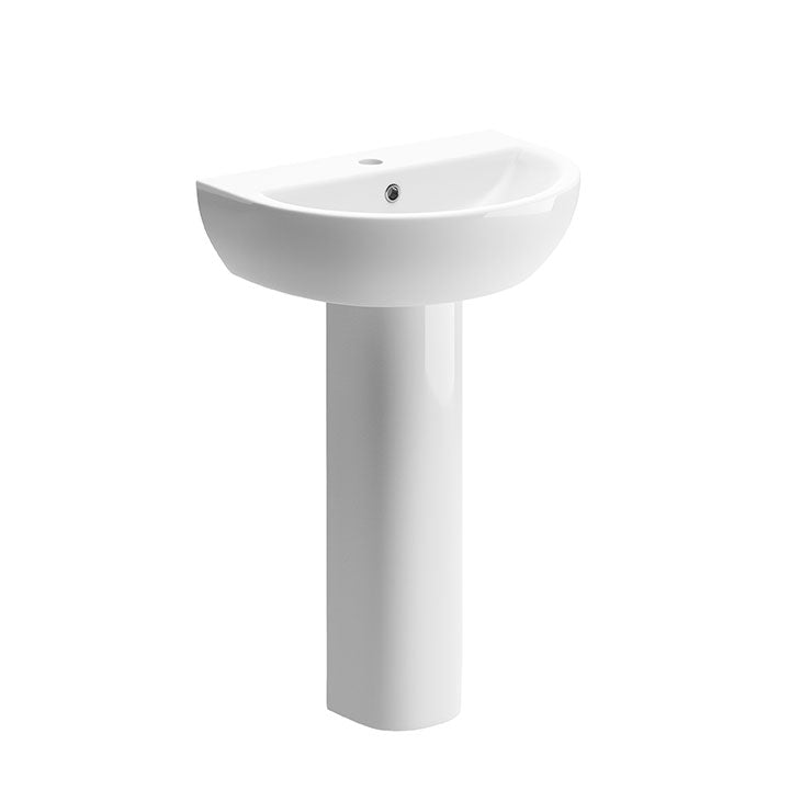 Tuscany 550mm Basin and Full Pedestal