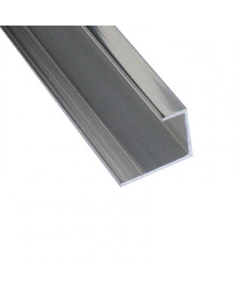 Chrome Aluminium Starter Trim for 10mm PVC Wall Panels