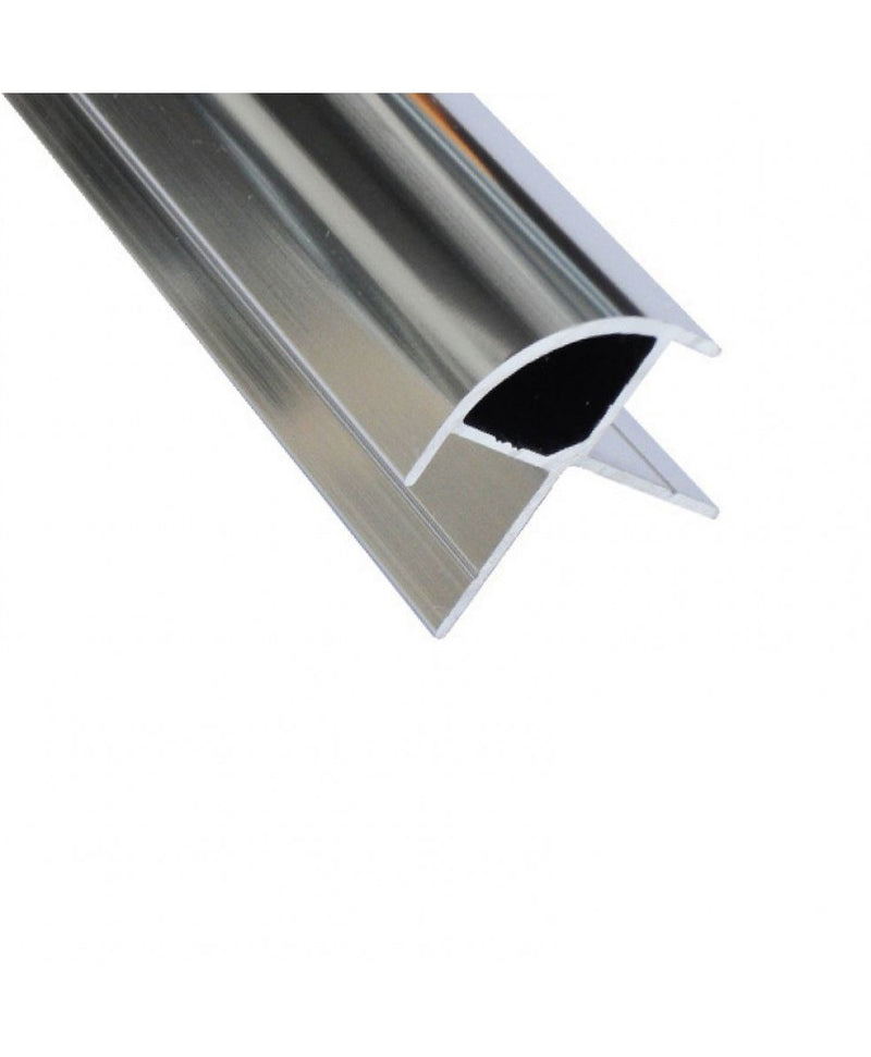 Chrome Aluminium External Corner Trim for 10mm PVC Wall Panels