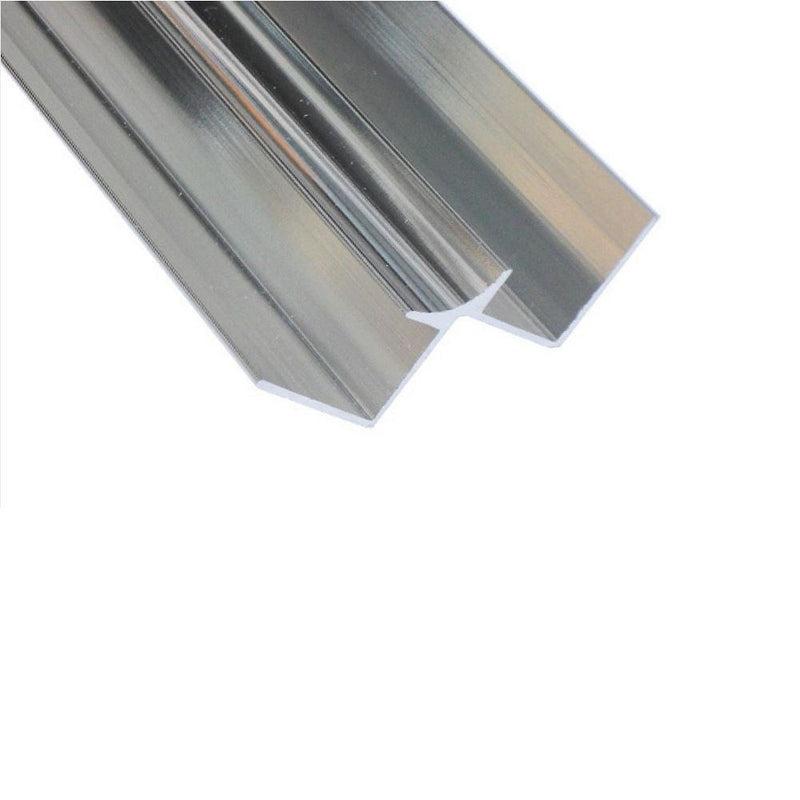 Chrome Aluminium Internal Corner Trim for 10mm PVC Wall Panels