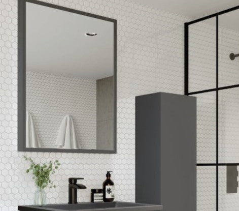 Ambience Matt Grey Mirror 800 x 600mm