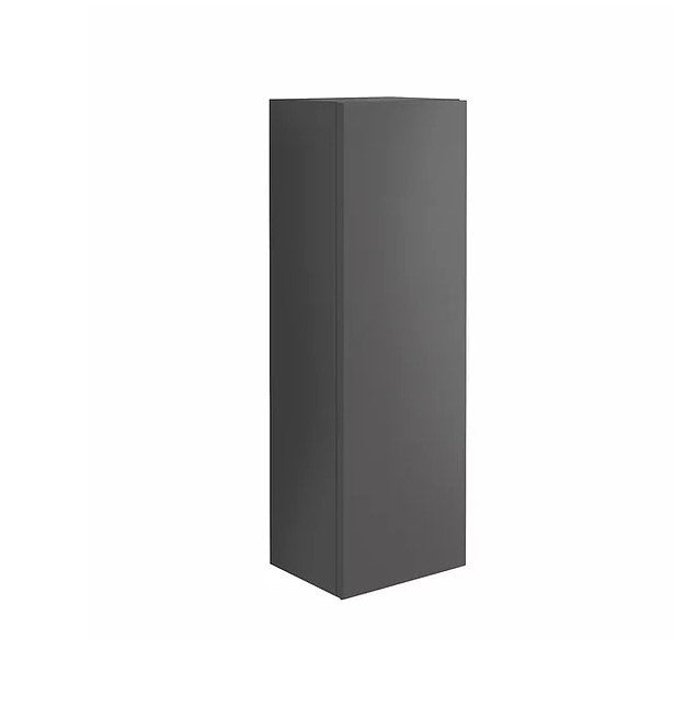 Ambience Matt Grey Wall Mounted Tall Storage Unit with Optional Frame and Shelf
