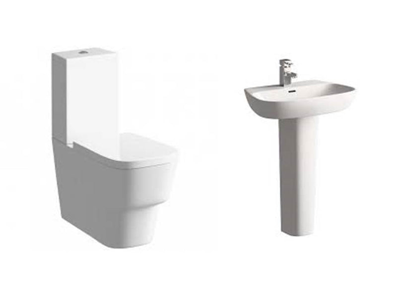 Amyris Suite, Close Coupled Toilet, Basin and Full Pedestal