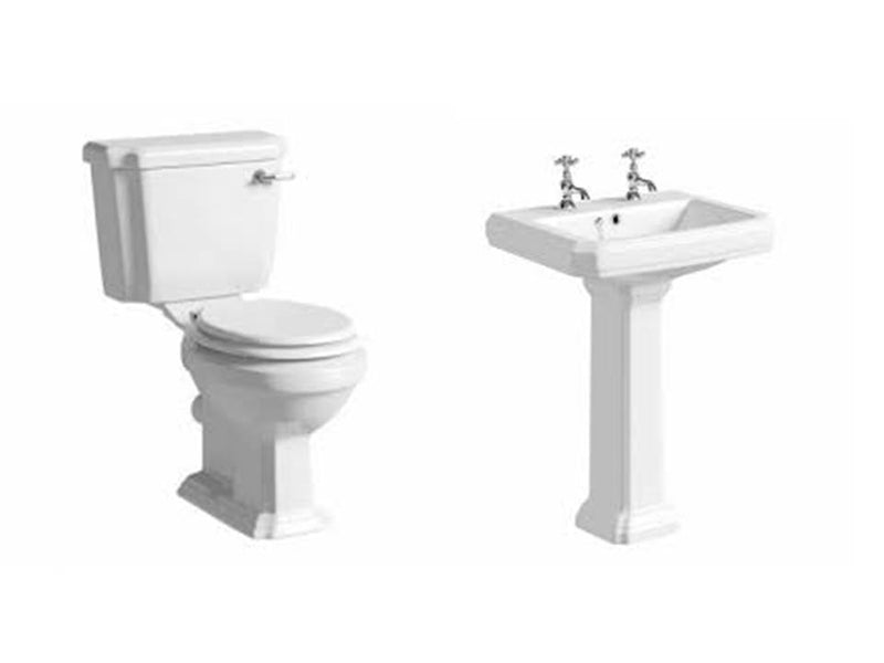 Astley Traditional Suite, Close Coupled Toilet, Basin and Full Pedestal