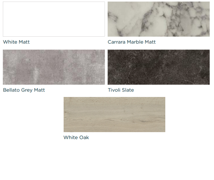 Avalon Matt Worktop 1800 x 365 x 20mm - Choice of Colours