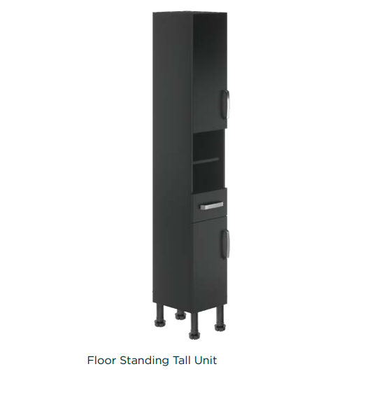 Avalon Supermatt Graphite 300mm Tall Unit