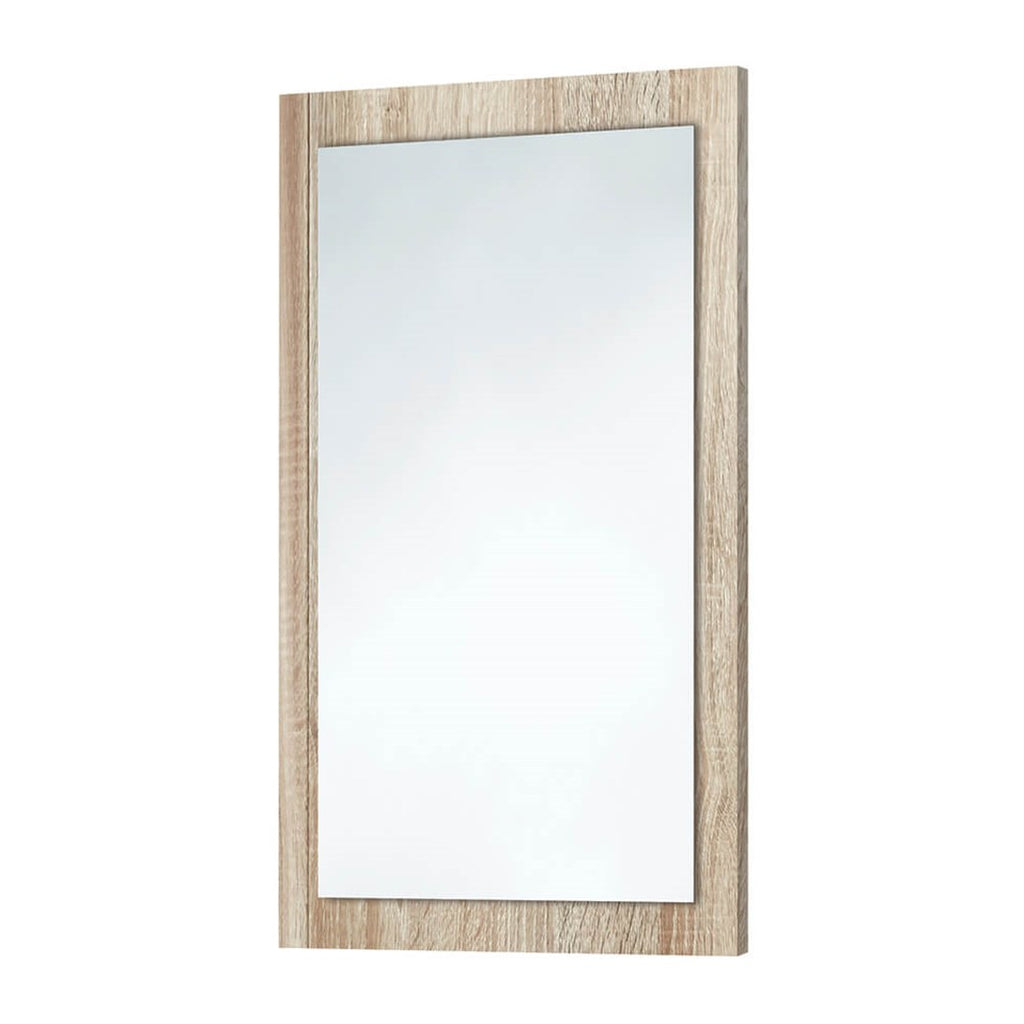 Bardolino Driftwood Oak Wooden Frame Mirror 600 x 900mm