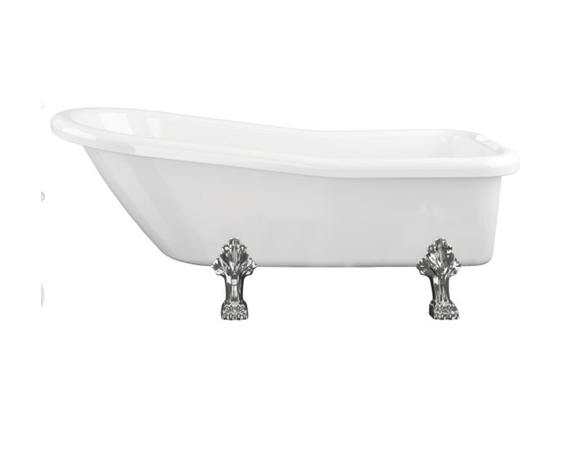 Bayswater Slipper 1530mm Traditional Roll Top Freestanding Bath