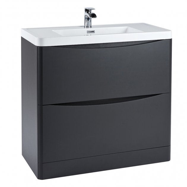 Bella 900mm Vanity Unit And Basin Floor Standing Matt Grey