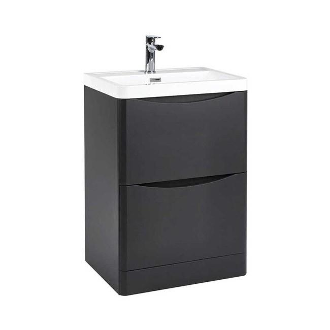 Bella 500mm Vanity Unit And Basin Floor Standing Matt Grey