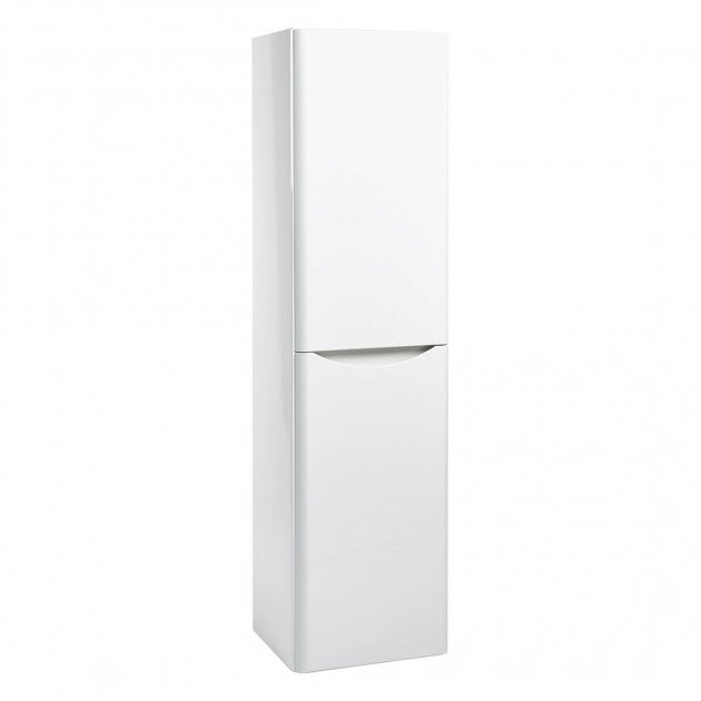Bella Gloss White Wall Mounted Tall Storage Unit