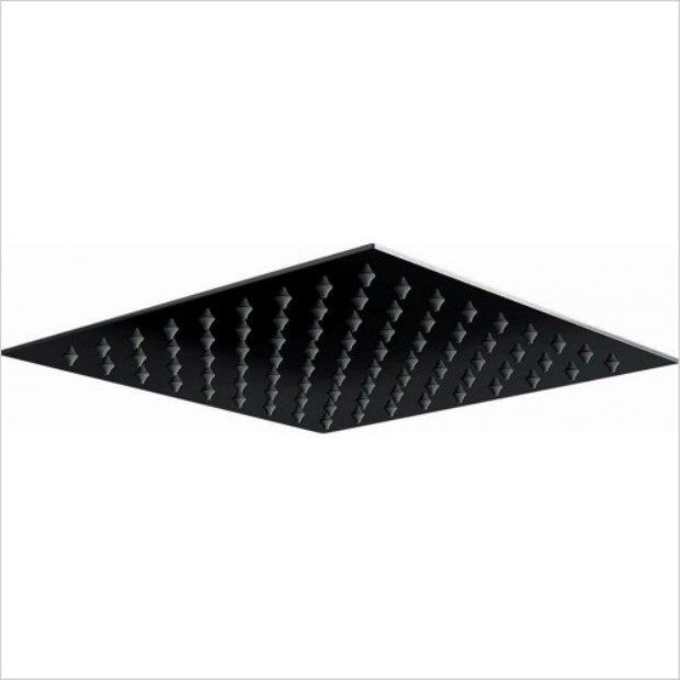 200mm Matt Black Thin Square Shower Head