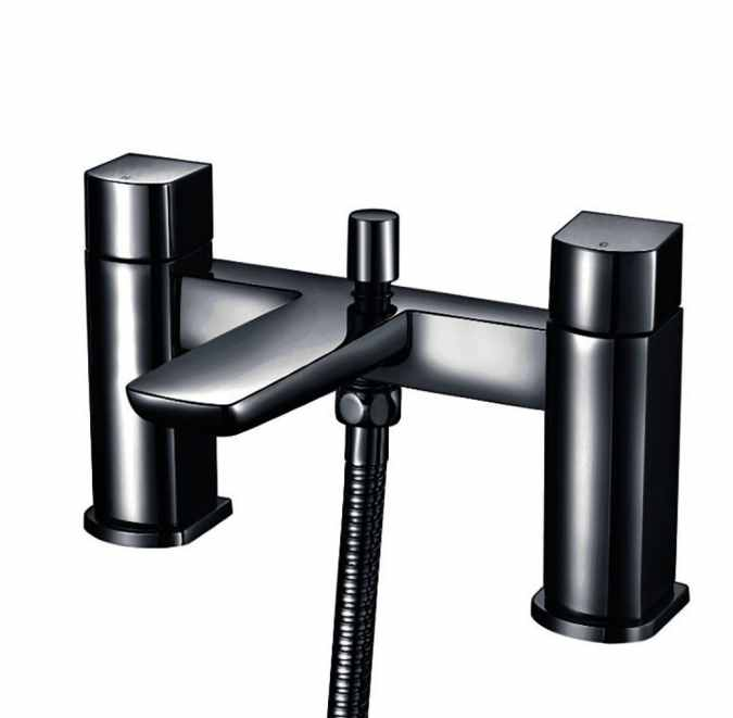 Muro Bath Shower Mixer Black