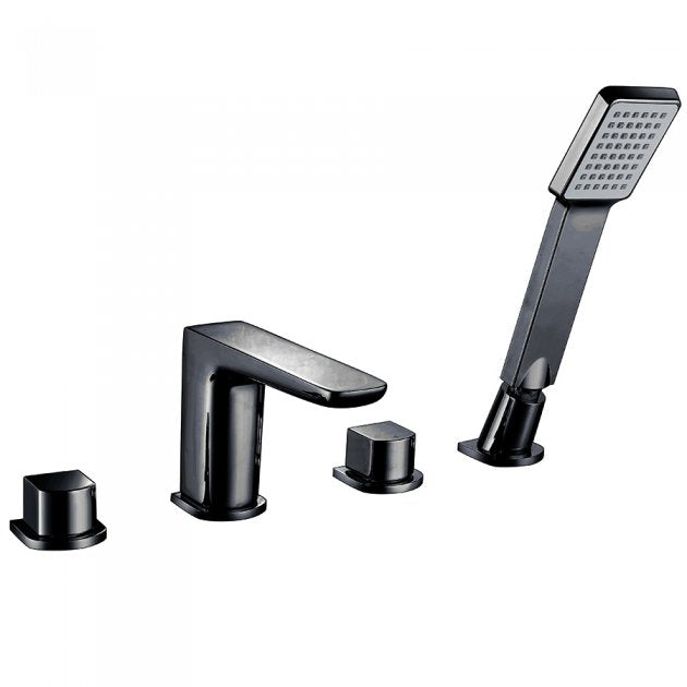 Muro 4 Hole Bath Mixer Black