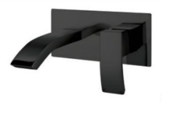 Descent Wall Mounted Basin Mixer Black