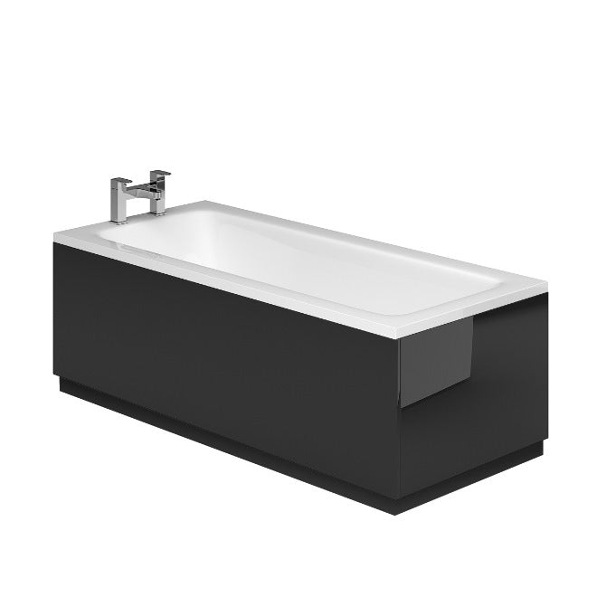 GLOSS BLACK METALLIC BATH 1700MM BATH PANEL