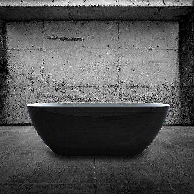 Charlotte Edwards Black Belgravia Freestanding Bath - Leeds Clearance Bathrooms