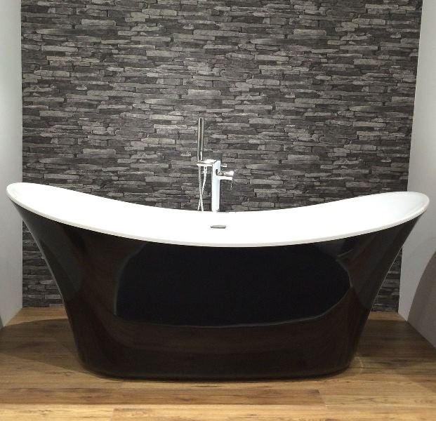 Charlotte Edwards Black Hazelmere Freestanding Bath - Leeds Clearance Bathrooms