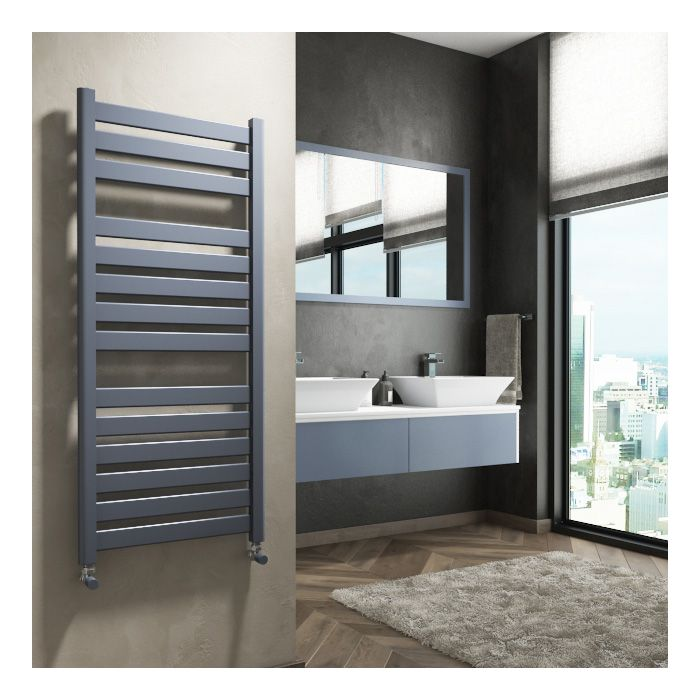 Capri Designer Anthracite Towel Rail 500 x 1147mm