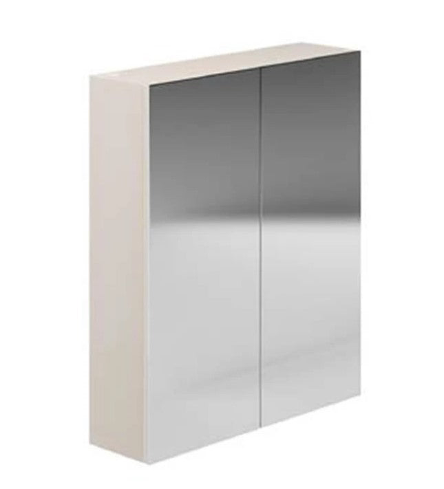 Avalon Gloss Cashmere 600mm Wall Mirror Unit