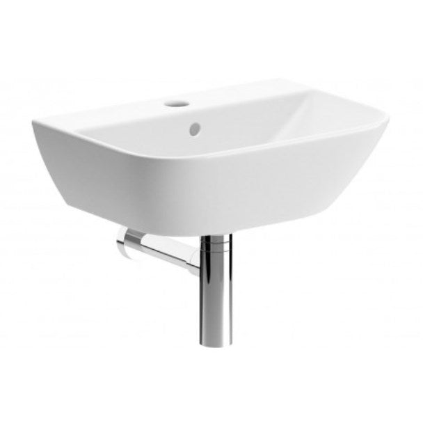 Cedarwood 450mm Cloakroom Basin and Bottle Trap