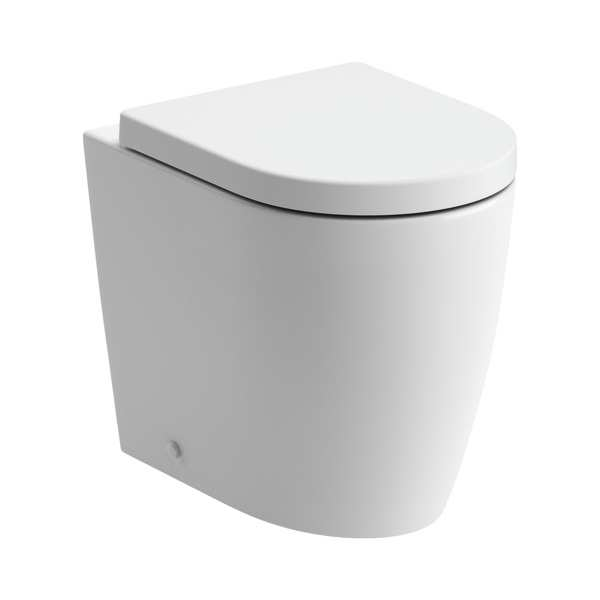 Cilantro Rimless BTW Toilet with Soft Close Seat