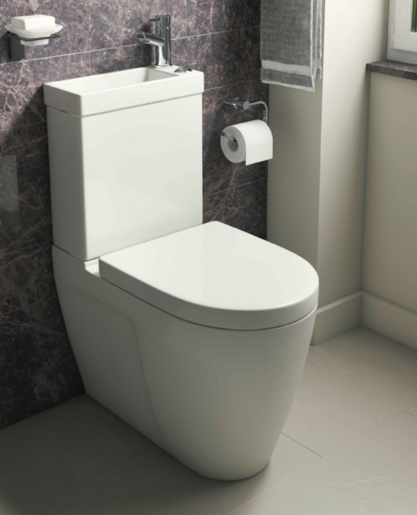 Space Saving Combi 2 in 1 Toilet and Basin Including Basin Tap