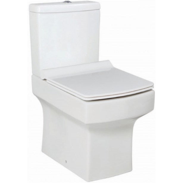 Denza Close Coupled Toilet And Slimline Soft Close Seat