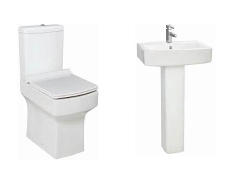 Denza Suite,  Close Coupled Toilet, Basin and Full Pedestal