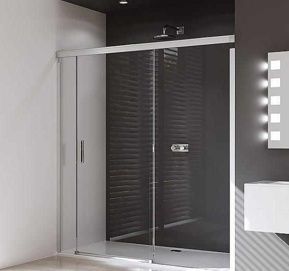 Huppe Design Pure 1700mm Sliding Door with 800mm Side Panel