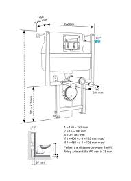 Low Height WC Frame Including Cistern choice of Flushplate