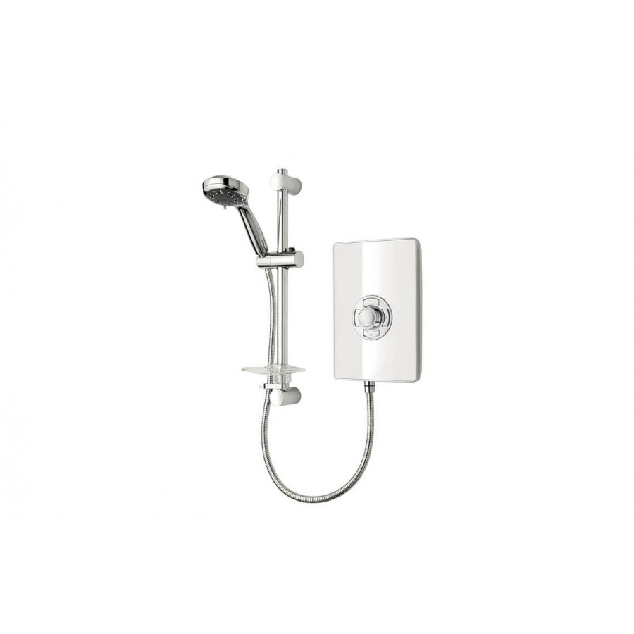 Triton Aspirante 9.5kW Electric Shower White Gloss