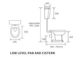 Sherbourne Low Level Pan, Cistern And Fittings And Soft Close Seat