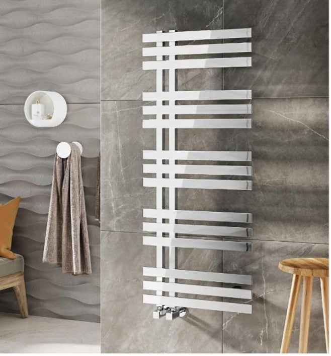 Elche Designer Towel Radiator Chrome 500 x 1200mm