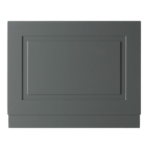 Kartell Astley Bath End Panels 700mm, 750mm and 800mm, Wood - Matt Grey
